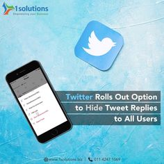 After months of testing, Twitter has now announced that is new 'Hide Replies' option will be rolled out to all users globally.  #SocialMediaNews #SocialMediaMarketing #DigitalMediaTrends Digital Media, Social Media Marketing, Twitter, Business, Blog, Blogging, Store, Business Illustration