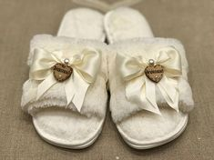 Bride or Bridesmaid slippers | Reception and Weddings