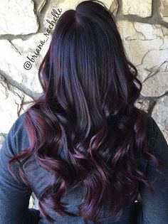 black to burgundy ombre - Winter