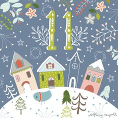 Christmas countdown by Flora Waycott Christmas Town, Noel Christmas, 12 Days Of Christmas, Christmas Countdown, Christmas Design, Vintage Christmas, Christmas Stockings, Christmas Crafts, Christmas Decorations