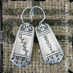Gypsy Soul Upcycled Vintage Silverware Earrings by AnvilDesigns, $35.00