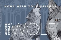 Advice from a Wolf - Designer Sticker Gifts For Nature Lovers, Wolf Howling, True Nature, Advice, Stickers, Holiday, Prints, Movie Posters, Fun