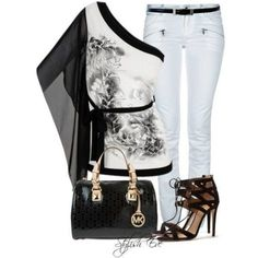 Stylish Eve Outfits Are you a Michael Kors girl? You will love the outfit collection our stylists put together using Michael Kors accessories. Komplette Outfits, Summer Outfits, Fashion Outfits, Womens Fashion, Fashion Trends, Petite Fashion, Jean Outfits, Curvy Fashion, Fashion Bloggers