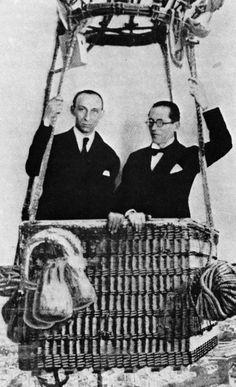 AMÉDÉE OZENFANT AND LE CORBUSIER, ON THE EIFFEL TOWER, JUNE 26, 1923