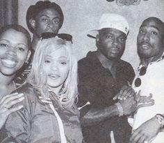 | Oct 1995 with Faith Evans and Treach at the Hollywood Athletic Club