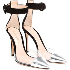 GIANVITO ROSSI Leather, PVC and Suede Pumps