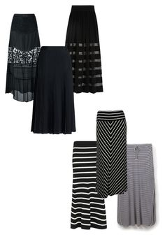 """""""monochrome skirts"""" by wilypr on Polyvore featuring Michael Kors, Twin-Set, Canvas by Lands' End, Cardigan, Joules and Calvin Klein"""