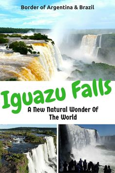 Explore Iguazu Falls on the border of Argentina and Brazil. Don't miss this off your list of. places to visit in South America. It is a must see in South America.  #southamerica #travelargentina #travelbrazil