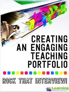 Learning Lab Resources: Creating a Teaching Portfolio for Job Interviews Teaching Interview, Teaching Jobs, Student Teaching, Teacher Binder, Teacher Organization, Teacher Stuff, Learning Resources, Teacher Resources, Learning Quotes