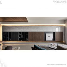Transzendenz durch Ruhe Innenarchitektur – Bronze A & # Design Award Gewinner … Transcendence by Tranquility Interior Design – Bronze A' Design Award Winner for Interior Space and Exhibition Design Category in 2017 – 2018 – Te-Yu Liu & Hui-Ching Chang Apartment Interior, Living Room Interior, Home Living Room, Living Room Modern, Tv Console Design, Tv Wall Design, Living Room Wall Units, Living Room Designs, Living Area