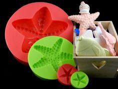 Silikonformen - 3D Silikonform Seestern XXL - ein Designerstück von luflom-design bei DaWanda