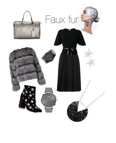 """""""Faux fur"""" by emmetu on Polyvore featuring Chanel, Lipsy, Astraet, RED Valentino, Kenneth Cole, DKNY, BOSS Black and Matthew Williamson"""