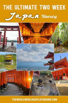 Japan Two Week Itinerary: Kyoto, Hiroshima, Kyoto, Hiroshima, Koyasan, Takayma, Nara, Tokyo, Nikko and Hakone!