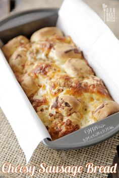 Cheesy Sausage Bread from Our Best Bites