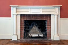 A fireplace in a home with ties to abolitionist history in Central New York