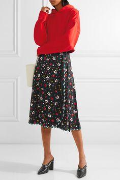 Marc Jacobs - Floral-print Silk-jacquard Wrap Skirt - Black - US10