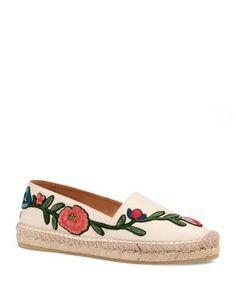 Gucci Pilar Embroidered Espadrilles | Bloomingdale's ❥Pinterest: yarenak67