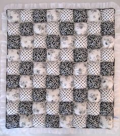 Baby Biscuit Quilt Black and White Dots by sugarhiccupllc on Etsy, $55.00