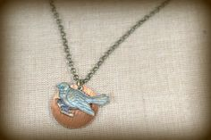July Challenge: BlueBird Charm Necklace by BAccessorized on Etsy