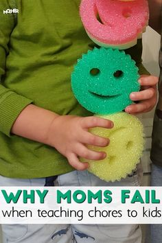 It's not easy to teach our little toddlers, preschoolers, and early elementary kids to clean up... here are 4 common reasons we moms raise slobs even though we don't want to!