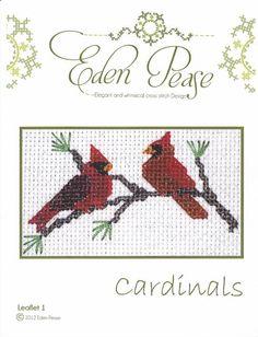 Eden Pease: cardinal cross stitch pattern