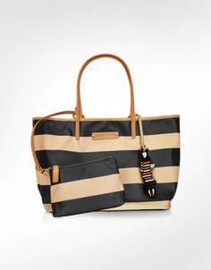 Sonia Rykiel Charms - Striped Tote Bag