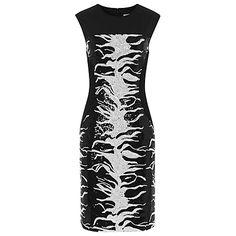 Buy Reiss Raina Zebra Print Sequin Shift Dress, Black/White Online at johnlewis.com bloomingdales 285