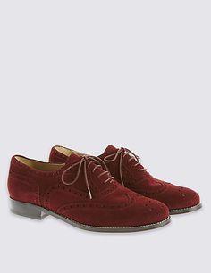 Suede Lace Up Brogue Shoes
