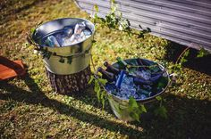 Cold drink anyone? Our ice filled buckets are perfect for stocking with cold beer! Caravan Bar, Buckets, Cold Drinks, Barware, Beer, Root Beer, Cool Drinks, Bucket, Drinkware