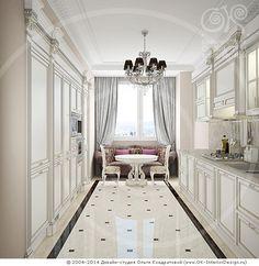 Античная белая кухня http://www.ok-interiordesign.ru/blog/designer-kitchen.html