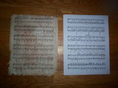 how to make sheet music look vintage