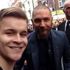 tom Hardy and Fan - April 16th 2015 - Child 44 premiere