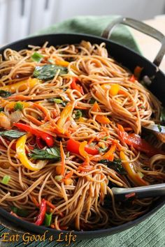 Eat Good 4 Life » Vegetable lo mein-add bean sprout and chicken