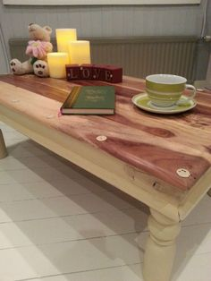 Shabby Chic Antique Rustic Pine Coffee Table - Annie Sloan. Another beautiful piece from Chic Boutique Furniture in Leicester