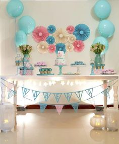 Dreaming of a delightful slumber party? Kara's Party Ideas has the sleepover party ideas for you! Happy Birthday Decor, Birthday Decorations At Home, Slumber Party Birthday, Twin Birthday Cakes, Baby Shower Decorations For Boys, Sleepover Party, Slumber Parties, Balloon Decorations, Birthday Party Themes
