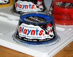 Playnts Paint Jar, 1968 - this reminds me of kindergarten adn elementary school in the 1960's!