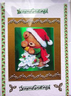 Christmas HandCrafted 3D Decoupage Card  Seasons by SunnyCrystals