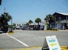 Folly Beach, SC: Charming old time beach strip.