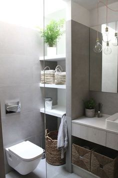 Home Decoration Ideas and Design Architecture. DIY and Crafts for your home renovation projects. Small Bedroom Storage, Bathroom Storage Shelves, Bad Inspiration, Bathroom Inspiration, Bathroom Tower, Regal Bad, Beautiful Bathrooms, Home Deco, Small Bathroom