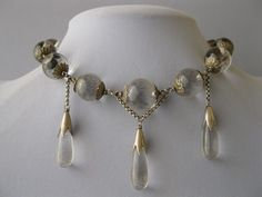 A uniquely designed, sterling and rock crystal, pools of light necklace that is from the 1920's - 30's.