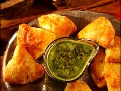 Baked Samosas with Mint Chutney : Recipes : Cooking Channel