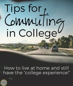 Tips for Commuter Students in College: How to live at home and still make the most of your college experience! Get rid of your fear of missing out, save money, and have fun doing it! #College #university #commuting