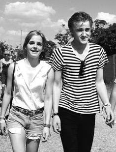 Emma Watson and Tom Felton from the Harry Potter series