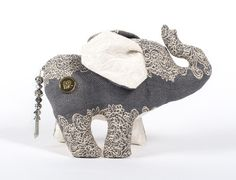 Elephant Plush Stuffed Animal  All About That Lace by SoMePlush