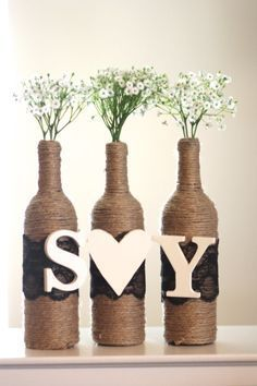 Enjoy Fall With Creative Simple Wine Bottle Crafts (2)