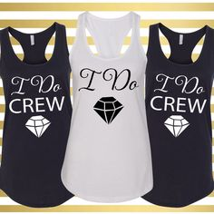 I Do Crew Tank Tops I Do Tank Top I Do Crew Bachelorette Party Tank... ($15) ❤ liked on Polyvore featuring tops, black, tanks, women's clothing, bride shirts, crew neck shirt, racer back tank, racerback tank and racer back tank top