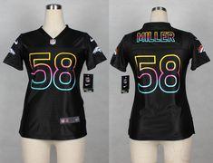 202cbe18d Womens Denver Broncos 58 Von Miller 2014 Black Fashion Nike Jerseys
