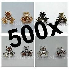 15mm Bead Caps, Plated Alloy, Fit 15-25mm Beads,Sold pkg of 500