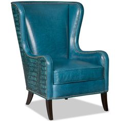 Bradington Young Club Chairs Aurora Chair with Flared Wing Back and Nailhead Trim - Baer's Furniture - Wing Chair Boca Raton, Naples, Sarasota, Ft. Myers, Miami, Ft. Lauderdale, Palm Beach, Melbourne, Orlando, Florida