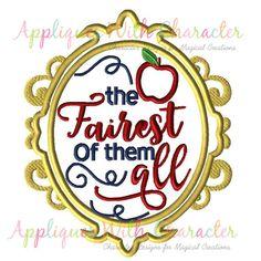 Snow White Applique Design Snow White by appliqueswcharacter